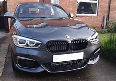 bmw f20 lci m performance pair gloss black grills for bmw 1 series f20