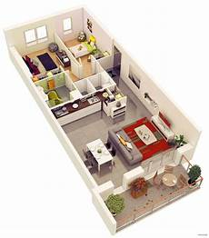 25 one bedroom houseapartment 25 more 2 bedroom 3d floor plans planimetrie di