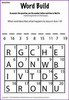 what happens to jesus in acts 1 9 puzzle kids korner biblewise sunday school worksheets