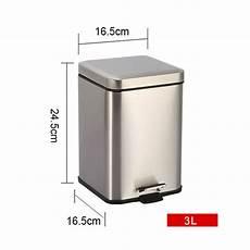 kosmetikeimer eckig 3 liter bad m 252 lleimer eckig kosmetikeimer treteimer 3l