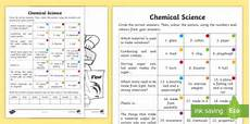 science worksheets for year 2 12096 year 2 chemical science questions and colouring worksheet worksheets
