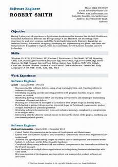software engineer resume sles qwikresume