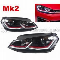 2x Headlight Golf 7 Facelift Gti Mk2 Led For Phase 2