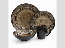 American Atelier Markham 16 Piece Black and Brown Square