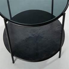 runder beistelltisch aus metall und glas schwarz dennis