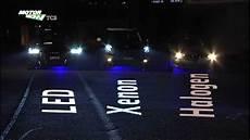 Licht Vergleich Led Xenon Halogen
