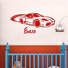 sticker mural personnalisé avec photo sticker pr 233 nom personnalis 233 voiture chambre enfants