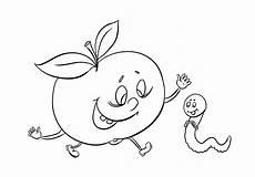 Ausmalbild Igel Apfel Vorlage Apfel Zum Ausschneiden Malvorlagentv