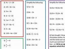 algebra worksheets year 6 printable 8655 3 differentiated algebra worksheets by resources by emma teaching resources tes