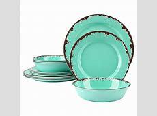 Rustic Melamine Dinnerware Set   12 Pcs Yinshine Outdoor