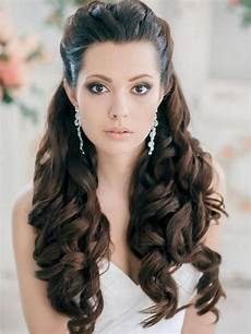 Half Up Half Hair Style Front View For Wedding bridal hair front view wedding hair inspiration