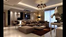 simple way to decorate small living room with brown color