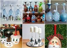 Diy Weihnachtsdeko Selber Machen Weinglas Als