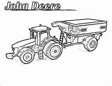ausmalbilder deere traktor malvorlagen