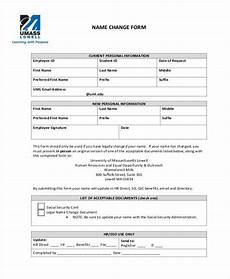 free 7 sle employee name change forms in pdf word