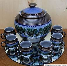 westerwälder keramik manufaktur marzi remy keramik bowle mit 6 becher westerwald