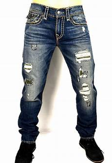true religion s geno distressing repaired slim t