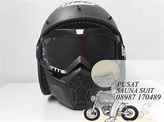 jual helm bogo retro bandit black dop bandit cros di lapak pusat sauna nico khosasie