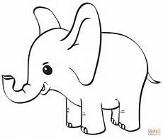 baby elephant coloring page free printable coloring pages