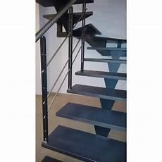 Escalier Deux Quart Tournant Limon Central Metal