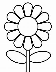 Malvorlage Blume Einfach Simple Printable Flower Coloring Pages Get Coloring Pages