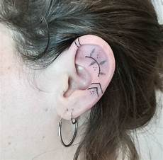 20 creative ear tattoos that are cooler than earrings