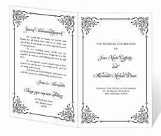 items similar to wedding program template printable instant download calligraphy flourish