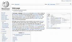 web page wikipedia