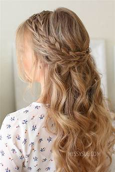 Half Up With Braid Hairstyles