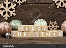 merry christmas wooden blocks merry christmas wooden blocks with decor rustic stock