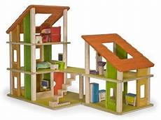 plan toy chalet doll house with furniture amazon com plandollhouse chalet dollhouse with furniture