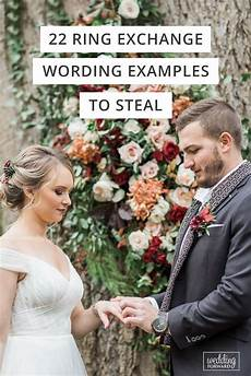 29 ring exchange wording exles to steal wedding ring