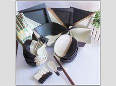 Black And White Square Dinnerware & 16 Pc Square