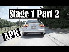audi s4 apr stage 1 part 2 downpipes exhaust youtube