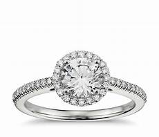 classic halo diamond engagement ring in 14k white gold 1 4 ct tw blue nile