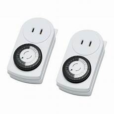 ikea 2 pack timer wall outlet 24 hours indoor light l ungrounded tanda ebay