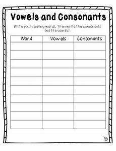 spelling worksheets the consonant 22353 activity for learning how to spell the word and all the vowels and consonants in the word