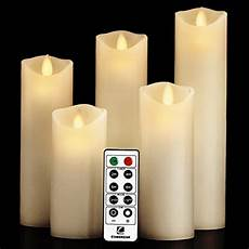 luminara candele luminara moving wick flameless candle set of 5 candle with