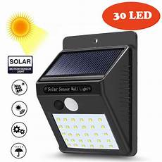 30 led solar powered outdoor wall light motion sensor outdoor garden security emergency