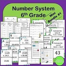 estimating decimals worksheets for grade 6 7493 number system 6th grade mini bundle 1 math addition sixth grade math secondary
