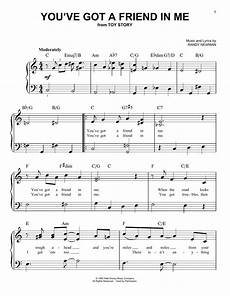you ve got a friend in me from toy story by randy newman easy piano digital sheet music