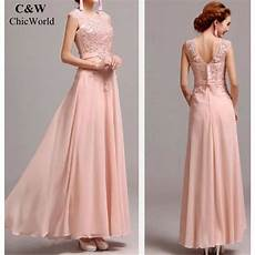 Demoiselle D Honneur Longue Robe Broderie D 233 Sig Pink