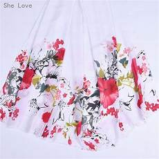 she love flowers position chiffon fabric for wedding