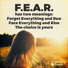 fear has two meanings pictures photos and images for