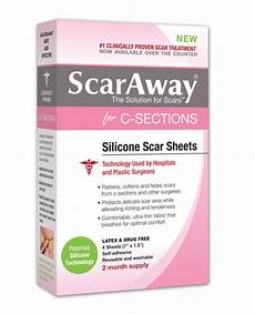 com scaraway c section scar treatment strips silicone adhesive soft fabric 4 sheets 7