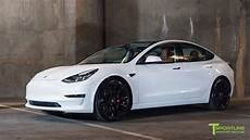 tesla model 3 pearl white tesla model 3 customized with a special