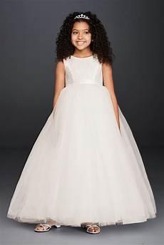 ball gown flower girl dress with heart cutout david s