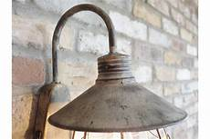 of 2 industrial grey metal wall light battery powered