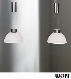 wofi class 2 light led ceiling pendant light matt nickel