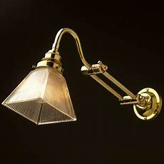 two bend adjustable solid brass arm wall light